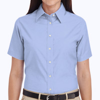 Ladies' Short-Sleeve Oxford with Stain-Release