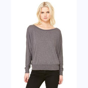 BELLA+CANVAS® FLOWY LONG SLEEVE OFF SHOULDER LADIES' TEE