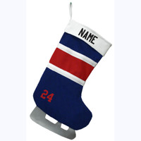 Christmas Stocking - Royal/Red/White