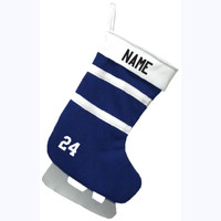 Christmas Stocking - Royal/Royal/White