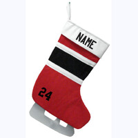 Christmas Stocking - Red/Black/White