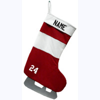 Christmas Stocking - Red/White