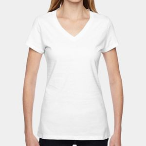 FOTL Ladies' 4.7  oz. 100% Sofspun™ Cotton Jersey Junior V-Neck T-Shirt Thumbnail