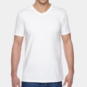 FOTL 4.7 oz., 100% Sofspun™ Cotton Jersey V-Neck T-Shirt Thumbnail