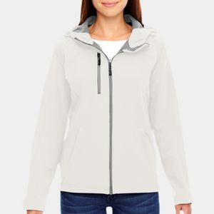 NORTH END Ladies' Prospect Two-Layer Fleece Bonded Soft Shell Hooded Jacket Thumbnail
