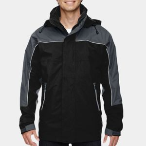NORTH END Men's 3-in-1 Seam-Sealed Mid-Length Jacket with Piping Thumbnail
